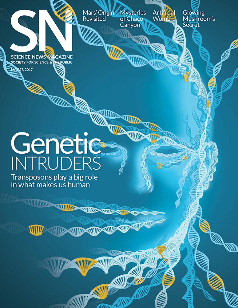 Science News magazine cover genetics