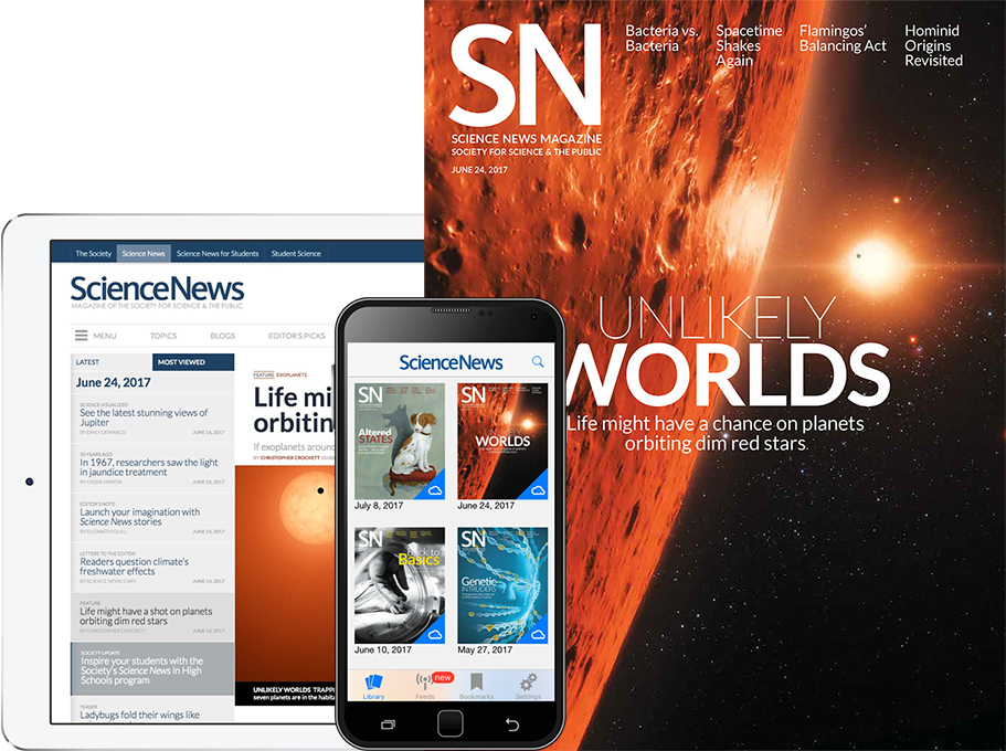 science news magazine in print and on tablet and mobile