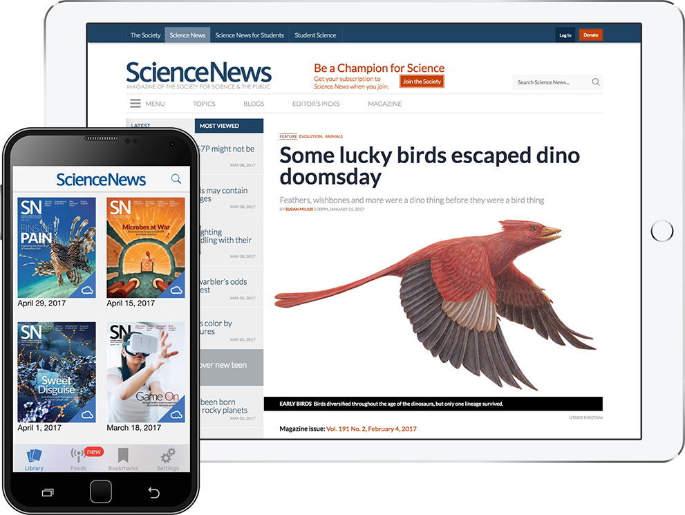 science news on tablet and mobile
